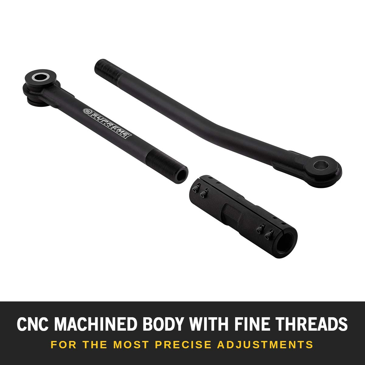 F-350 Super Duty Cold Rolled Steel 0.25 Wall Tubing TrackBar Adjustable Track Bar for 2005-2016 Ford F-250 Supreme Suspensions For vehicles with 0-8 of lift