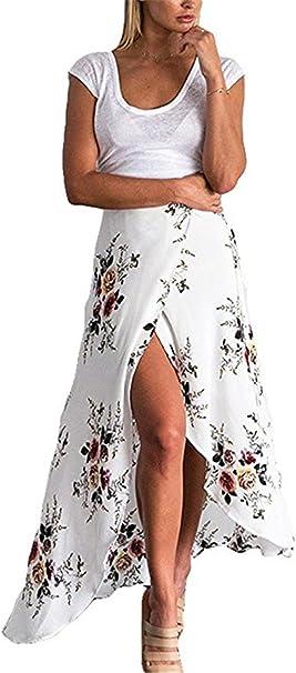 Ruiying Faldas Floral Largas de Gasas de Mujeres, Vestidos ...