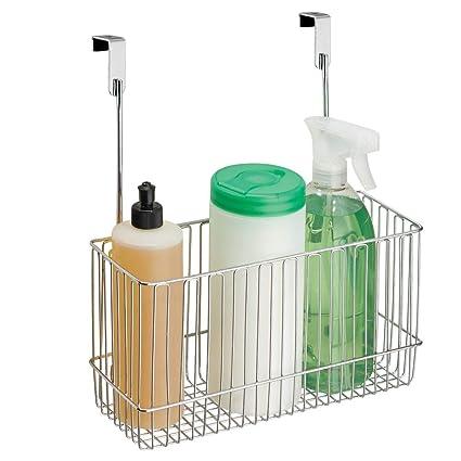 mDesign - Canasto organizador para colocar sobre perfil de gabinete de cocina; guarda papel de aluminio, bolsas para sándwiches, suministros de ...