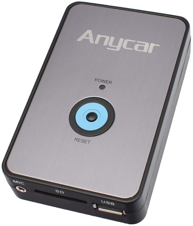 Yatour Adaptateur USB SD AUX MP3 pour voitures BMW à connecteur broche plate Compatible Z4 E85 avant rénovation (sauf 16:9, base CD et DSP), E39 avant rénovation (sauf 16:9 et DSP inversé), E53 X5 (sauf 16:9 et DSP), EE83 X3 ava