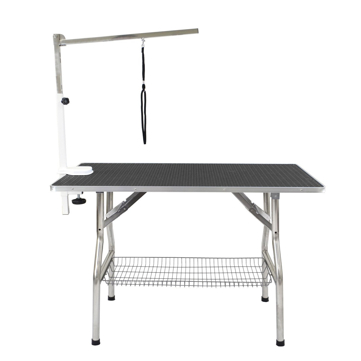 Flying Pig Grooming Medium Stainless Steel Frame Foldable Dog Pet Table, 38'' by 22'', Black by Flying Pig Grooming (Image #2)