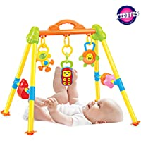Kiditos Happy Fitness Frame Play Gym with 20 Songs & Dazzling Lights for 3 Months + Baby