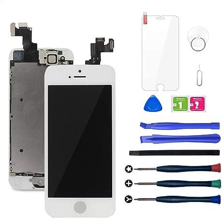LWMTT Pantalla Tàctil LCD para iPhone 5S Y iPhone SE Blanco – Táctil Reemplazo Digital Conjunto Completo Recambio Herramientas para la Reparación, ...