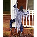 63 Life Size Climbing Zombies Halloween Haunted House Prop Decor (white)