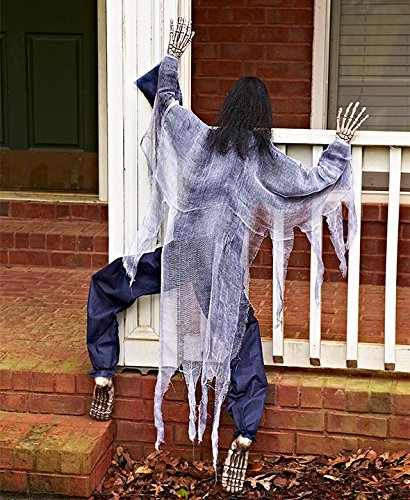 KNL Store 63 Life Size Climbing Zombies Halloween Haunted House Prop Decor (White) ()