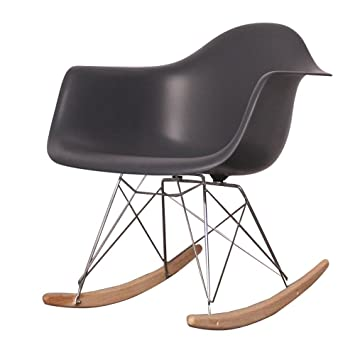 Outstanding Chairs Charles Eames Style Cool White Plastic Retro Rocking Onthecornerstone Fun Painted Chair Ideas Images Onthecornerstoneorg