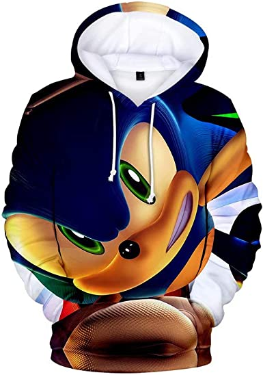 Amazon Com Tgft Unisex Cartoon Sonic Hedgehog Fashion Hoodie 3d Printed Hooded Pullover Sweatshirt Autumn Outfit Clothing