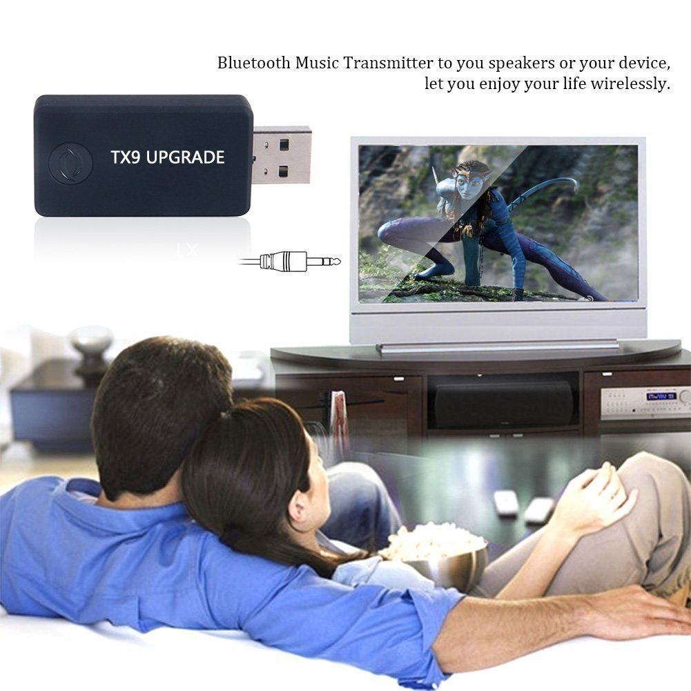 USB Transmisor Bluetooth, URANT portátil inalámbrico Audio adaptador Bluetooth Transmitter Música Transmisor 3.5mm Adaptador de Audio Estéreo para TV, ...