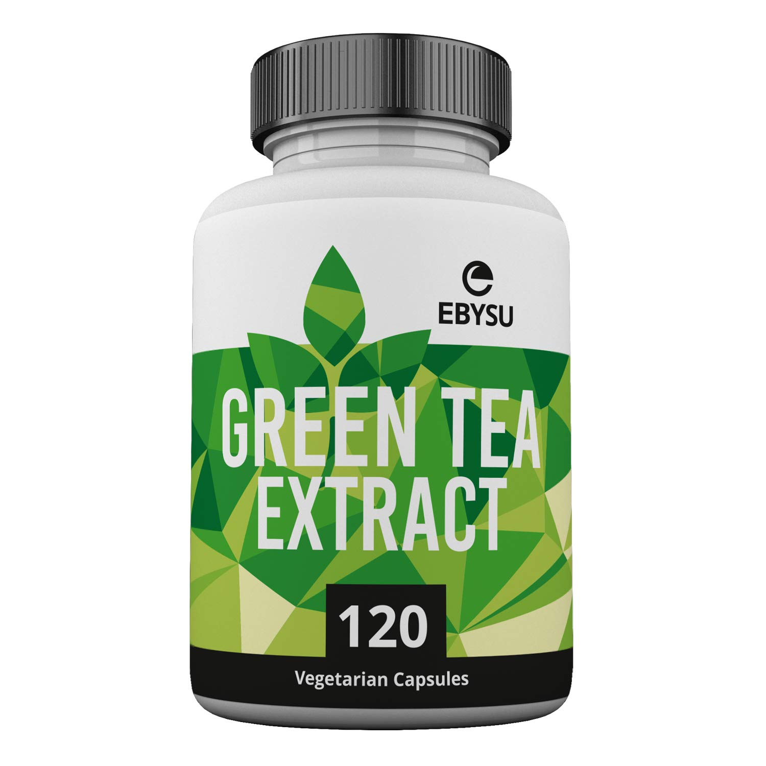EBYSU Green Tea Extract - 120 Day Supply - 500mg Vegan Capsules with ECGC for Energy Boost & Weight Loss - Made in USA, Non GMO Supplement Pills