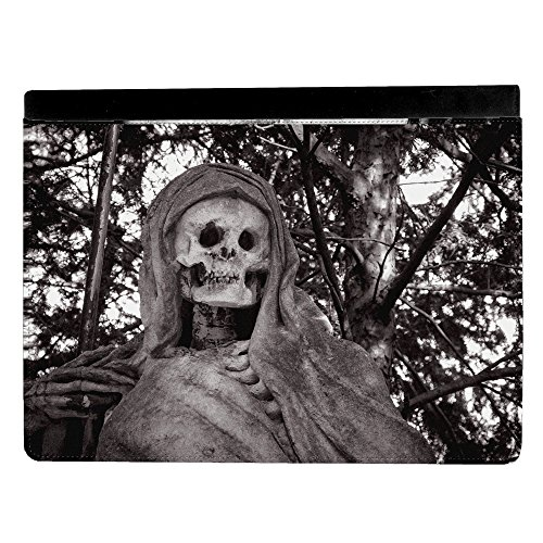 Halloween Scary Cutter Man Skeleton Grim Reaper Apple iPad Pro 9.7 Inch Leather Flip Tablet Case (Scary Halloween Stores)