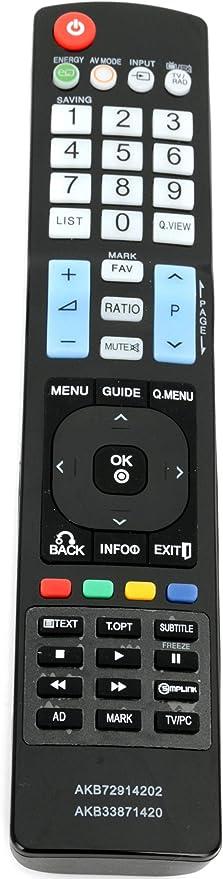 ALLIMITY AKB33871420 Mando a Distancia reemplazado por LG Plasma LED LCD TV M2794DP M2762DL M237WD-PZ M237WDP-PC M2362DP-CLBEUDLUP M2362D-PC M2362D M227WDP-PZ M227WDP-PC M227WD M2262DP-ZL: Amazon.es: Electrónica
