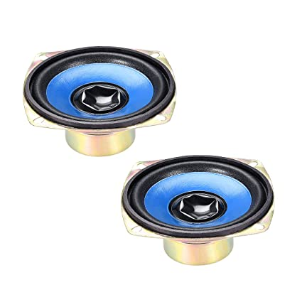 uxcell 5W 77mm Square Shape 4 Ohm DIY Speaker Replacement Loudspeaker 2pcs