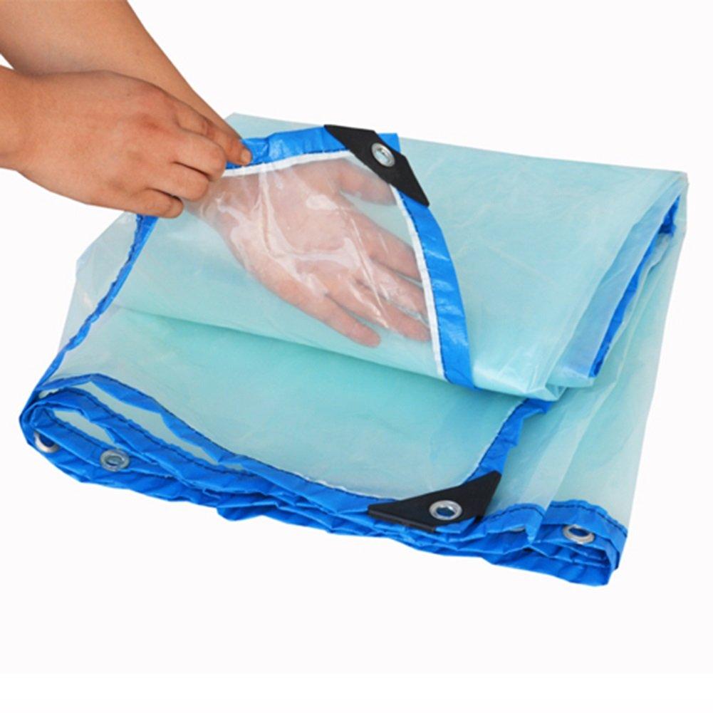 QX pengbu IAIZI Regenschutztuch wasserdichtes Tuch Kunststofftuch Regenstoff Plane Regenschutztuch transparente Verdickung (größe   2 m X5 m)