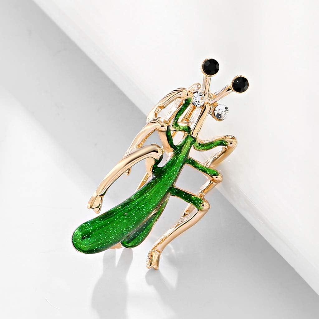 YAZILIND Moda Insecto Rhinestone Esmalte Mantis Broche Ropa Accesorios Esmalte broches cumplea/ños Regalos joyer/ía
