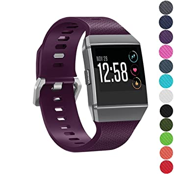 Golden Triangle for Fitbit Ionic Watch Bands, Replacement Sport Strap for Fitbit Ionic Smartwatch, Buckle, Waterproof, 13 Colors, Large, Small