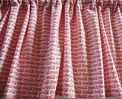 Valance Coca Cola Custom Made Window Treatment White and Red