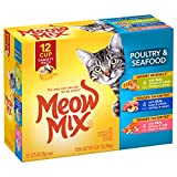 Meow Mix Poultry And Seafood Wet Cat Food Variety Pack, 2.75-Ounce Cups (Pack Of 48)