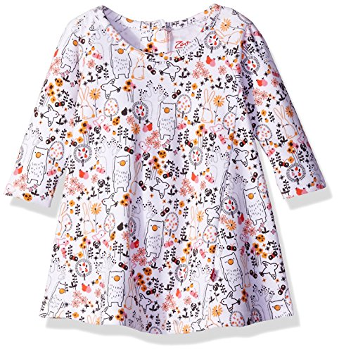 Zutano Baby Girls' Raglan Trapeze Dress, Folktale, 6 Months (Baby Dress Zutano)