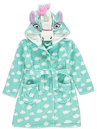 George Girls Unicorn Fleece Hooded Dressing Gown   Pyjamas Set 5-6 Years ca6ec62c3