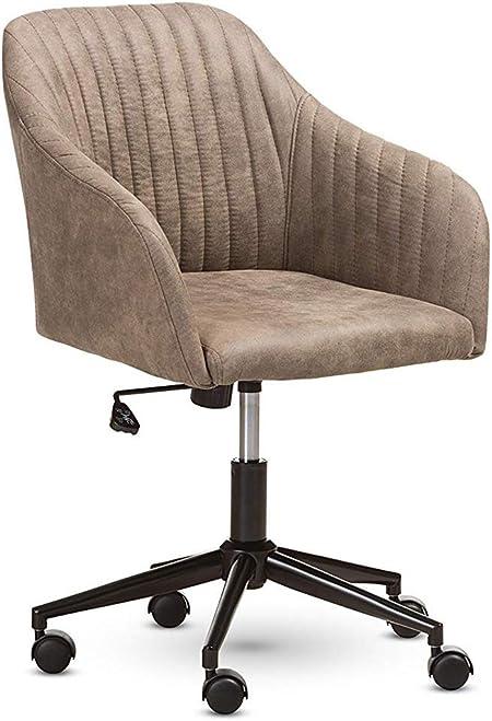 Melinda Furniture Fauteuil de Bureau Moderne en Tissu Marron