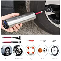GHB Electric Pump Air Compressor Rechargeable Pneumatic Inflator for Tire Pressure Monitor Silver