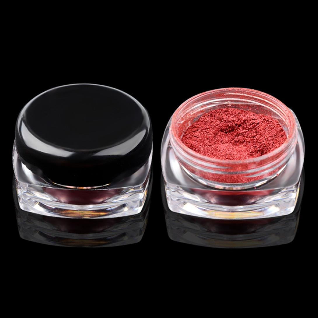 Kemilove 2g/Box Gold Sliver Nail Glitter Powder Shinning Nail Mirror Powder (Rose Gold) by Kemilove (Image #3)