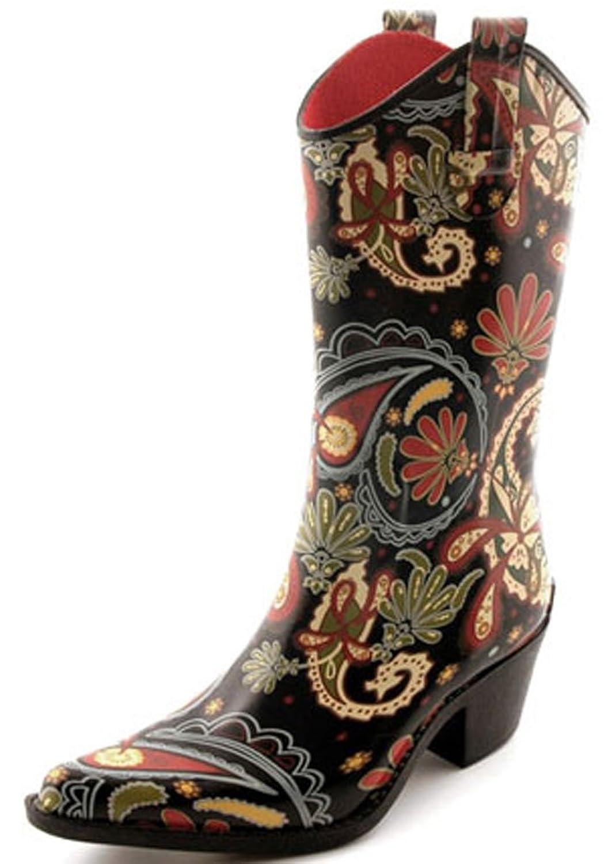 119d1890c9c 30%OFF Corkys Rain Boots for Women,9 B(M) US,Rodeo Paisley ...