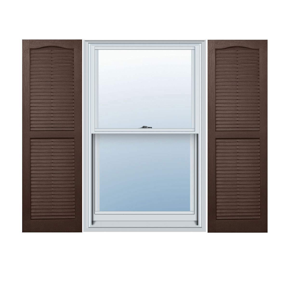Alpha VNB1563BROL 14-Inch by 63-Inch Open Louver, Brown, 2-Pack by Alpha