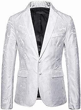 MrTom Chaquetas de Traje para Hombre Trajes de Vestir Casual Blazer de Negocios Boda Fiesta Formal Elegante Slim Fit Estampado Bohemia Chaquetas de Esmoquin Un Botón Camisas Abrigo Tops: Amazon.es: Ropa y