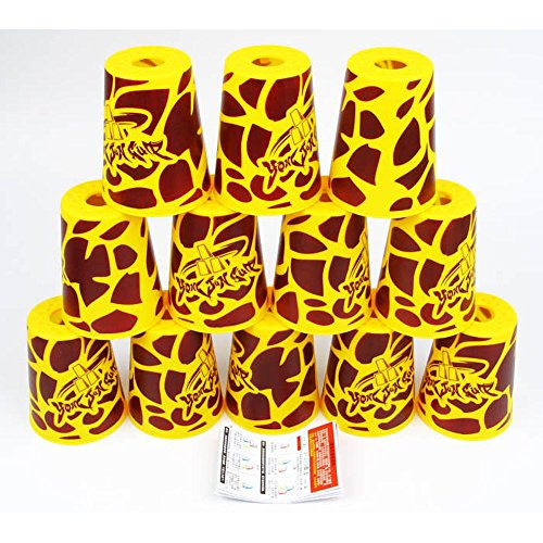 Yongjun Speed Flying Cup Stacking Rapid Cups 12 Pieces UFO Cups Yellow