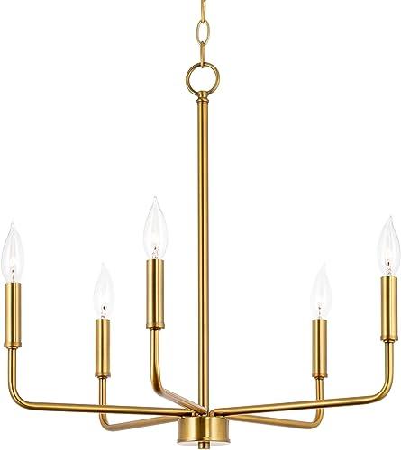 Kira Home Camille 21.5″ 5-Light Modern Chandelier