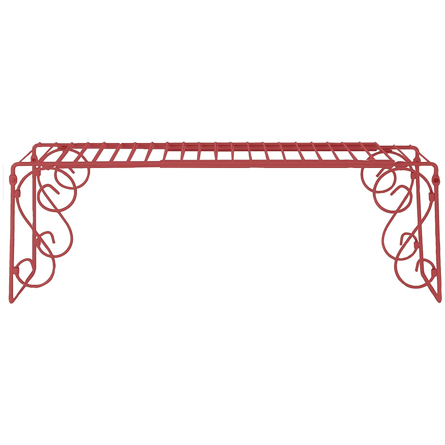 Old Home Kitchen Expandable Over Sink Shelf - Red