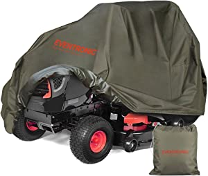 Eventronic Riding Lawn Mower Cover, Riding Lawn Tractor Cover Waterproof Heavy Duty Durable (600D-polyester Oxford)