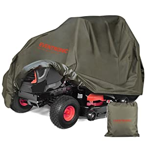 Eventronic Riding Lawn Mower Cover, Riding Lawn Tractor Cover 600D Waterproof UV Resistant Mildew Heavy Duty Durable (L76 xW47 xH47)