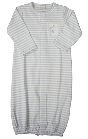 57f585371f3 Amazon.com  Kissy Kissy Baby-Boys Infant Second Mate Stripe Convertible  Gown-White and Blue-Newborn  Clothing