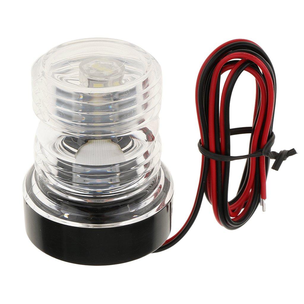 MonkeyJack 360 Degree Angle White NAV Anchor LED Bulb Boat Anchor Navigation Light 12V with Cable
