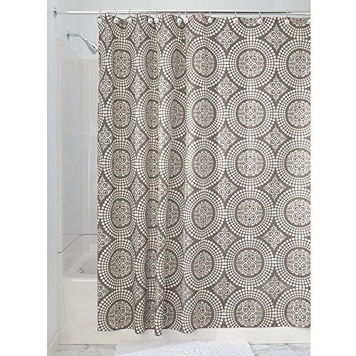 InterDesign Medallion Fabric Shower Curtain