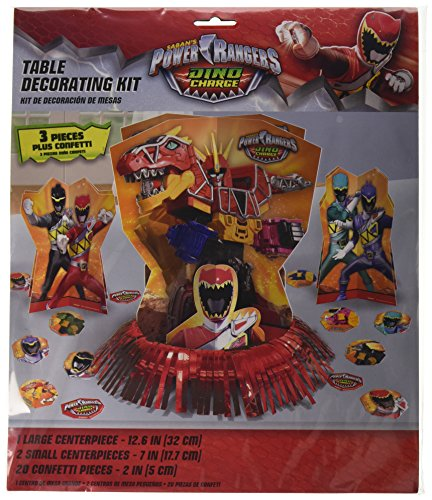 [Amscan Power Rangers Dino Charge Birthday Party Assorted Table Decorating Kit (23 Pack), 12.5