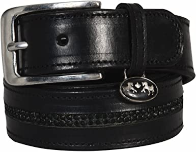 Equine Couture Double Row Bling Belt Leather with Sparkle for Schooling or Show