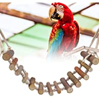 Heavy duty parakeets toy strong tree natural durable bird ladder harmless for parrot birds