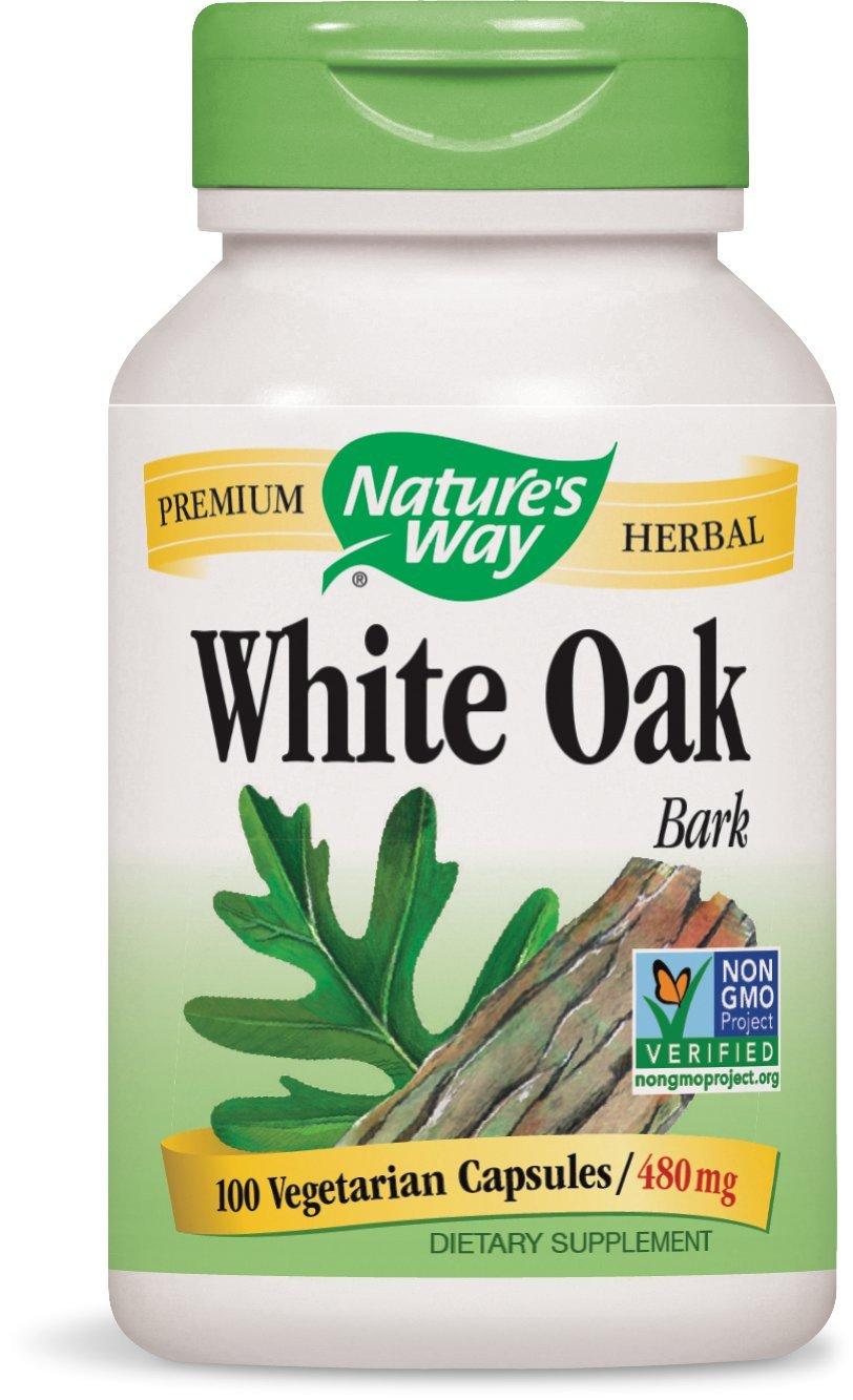 Amazon Natures Way White Oak Bark Capsules 480mg 100 Count