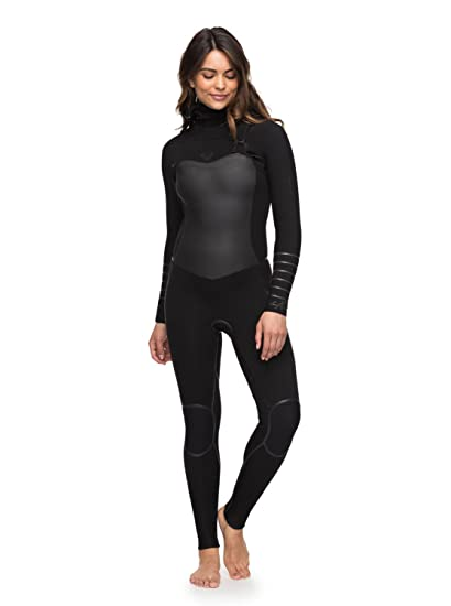 58a62d44c3038 Amazon.com  Roxy Womens 5 4 3Mm Syncro Plus Hooded Chest Zip Wetsuit ...