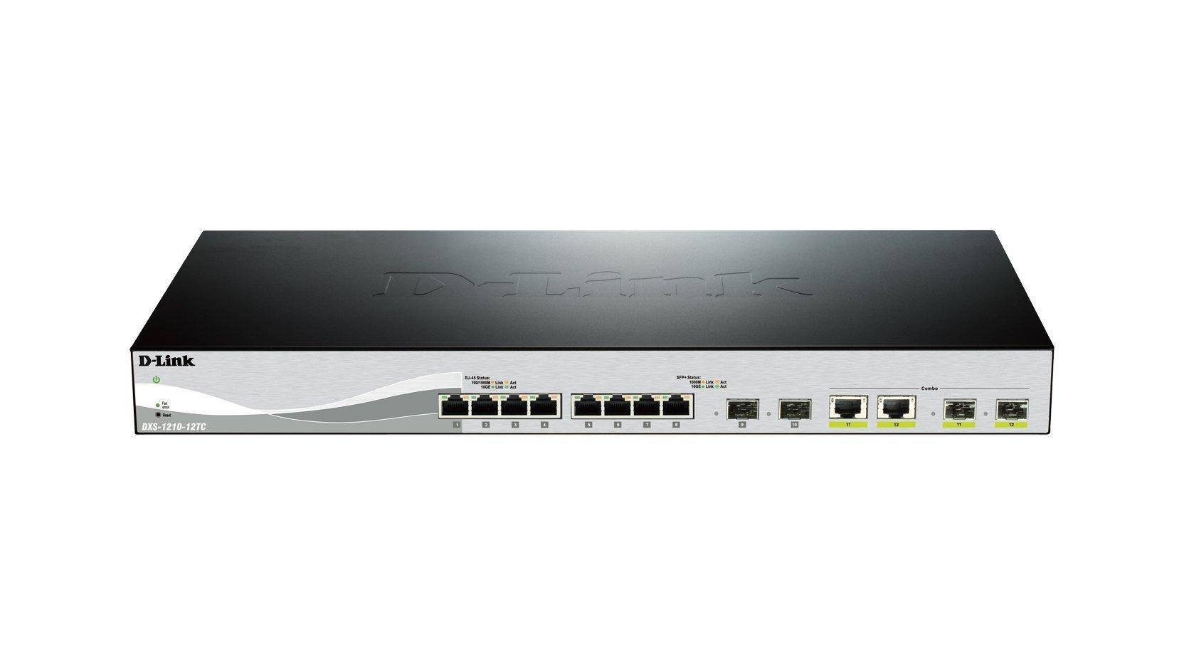 D-Link Systems 12-Port 10GBASE-T Web Smart Switch & 2 SFP+ Ports & 2 10GBASE-T/SFP+ Combo Ports (DXS-1210-12TC) by D-Link