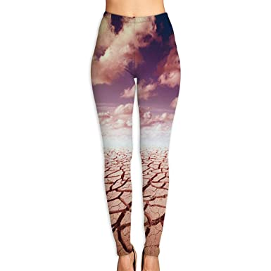04f4693137d5 Gugize Women s 3D Brown Land Texture High Waist Yoga Leggings Workout  Stretch Trousers at Amazon Women s Clothing store