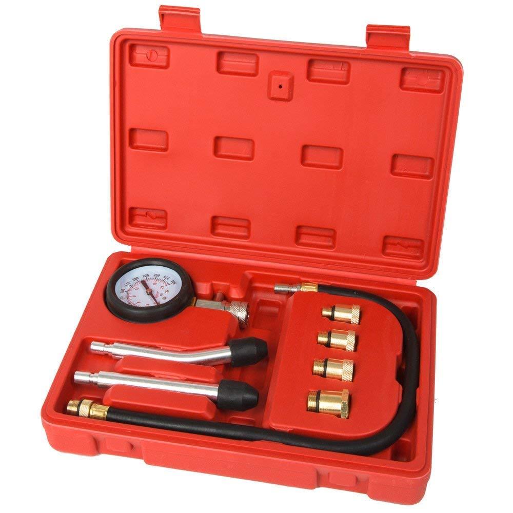 UCSLIFE Kompressionstester KFZ Kompressionsprü fer 0-20 bar oder 0-300 psi inkl. Koffer
