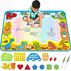 FREE TO FLY Large Aqua Drawing Mat for K...