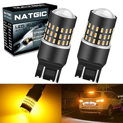 NATGIC 7443 7440 7440NA Bombillas LED Chipsets 3014SMD 54-EX con ...