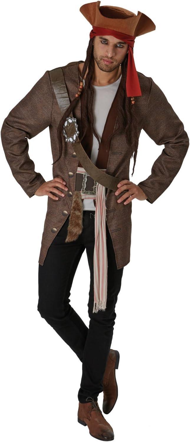 Piratas del Caribe - Disfraz de pirata Jack Sparrow para hombre ...