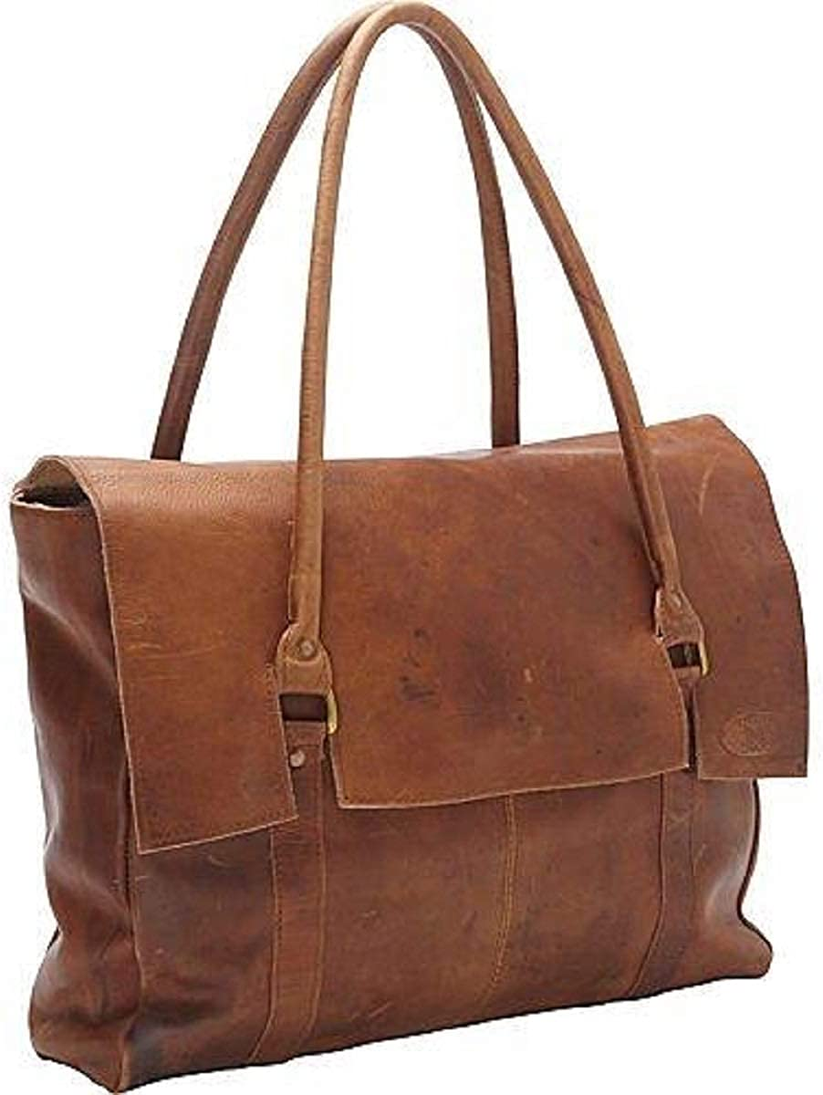 SHARO Women's Large Soft Handbag Tote Carry-on Bag Brown