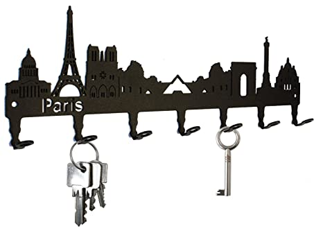 Amazon.com: Key Holder/Skyline Paris – Francia Ganchos para ...